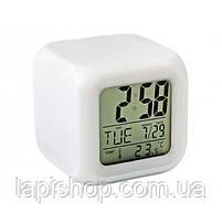Настільні годинники хамелеон Куб Color change, фото 2