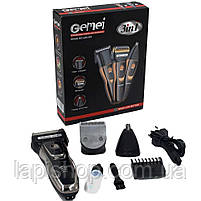 Набір для стрижки Gemei GM 595 тример 3 в 1 для стрижки волосся і бороди, фото 2