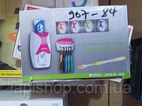 Дозатор зубной пасты и держатель щеток черный, фото 3