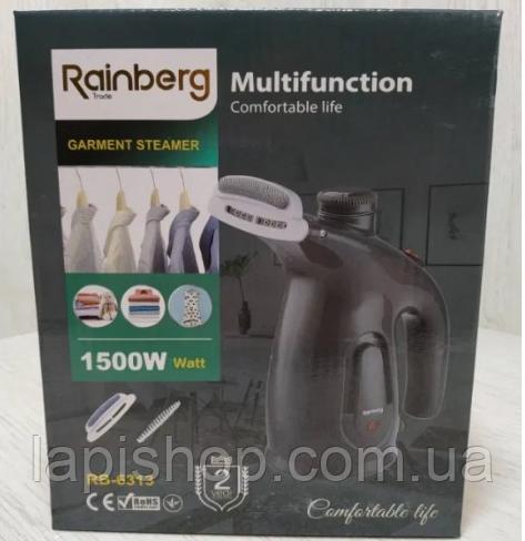 Ручной отпариватель Rainberg RB-6313 насадки с длиной и короткой щетиной
