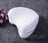 Подушка для ніг Leg pillow у блістері Ортопедична подушка для ніг і колін анатомічна з ефектом пам'яті, фото 9