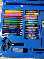 Набір для малювання в валізі з 86 предметів для дитячої творчості Синій, фото 2