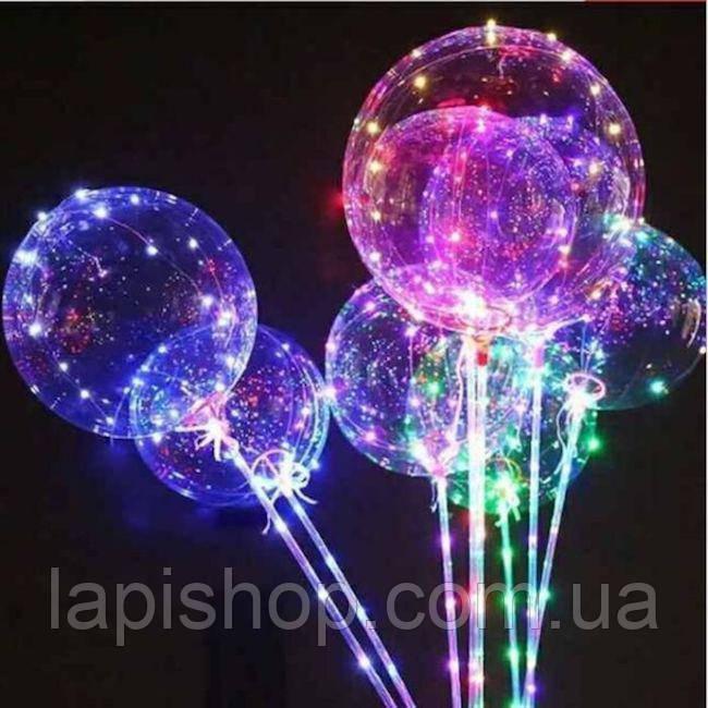Світиться повітряна куля на паличці   світиться LED кулька (світлодіодний LED куля)
