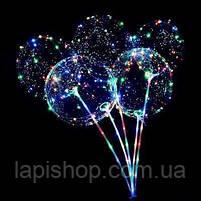 Світиться повітряна куля на паличці   світиться LED кулька (світлодіодний LED куля), фото 2