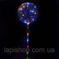 Світиться повітряна куля на паличці   світиться LED кулька (світлодіодний LED куля), фото 3