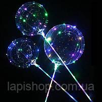 Світиться повітряна куля на паличці   світиться LED кулька (світлодіодний LED куля), фото 4