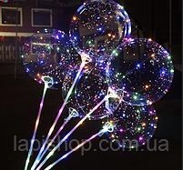Світиться повітряна куля на паличці   світиться LED кулька (світлодіодний LED куля), фото 5