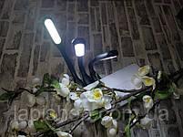 Светодиодная лампа для ноутбука LED USB фонарик черный, фото 4