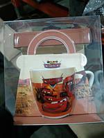 Детская керамическая чашка Тачки Spider-man в подарочной упаковке, фото 3