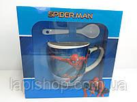 Детская керамическая чашка Тачки Spider-man в подарочной упаковке, фото 4