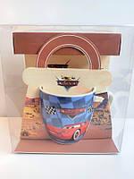 Детская керамическая чашка Тачки Spider-man в подарочной упаковке, фото 5