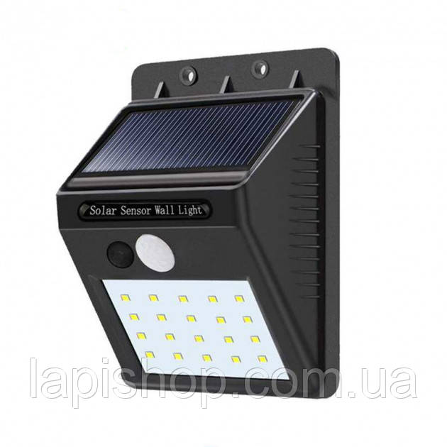 Светодиодный уличный светильник Solar COB LED навесной настенный от солнечной батареи с датчиком движения