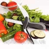 Кухонні ножиці універсальні Clever cutter Ніж-ножиці 2 в 1 lp, фото 3
