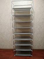 Стеллаж для хранения обуви Combination Shoe Frame 60X30X160 тканевый шкаф для обуви, фото 4
