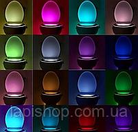 Подсветка для унитаза LED  светильник ночник с датчиком движения 7 цветов, фото 6