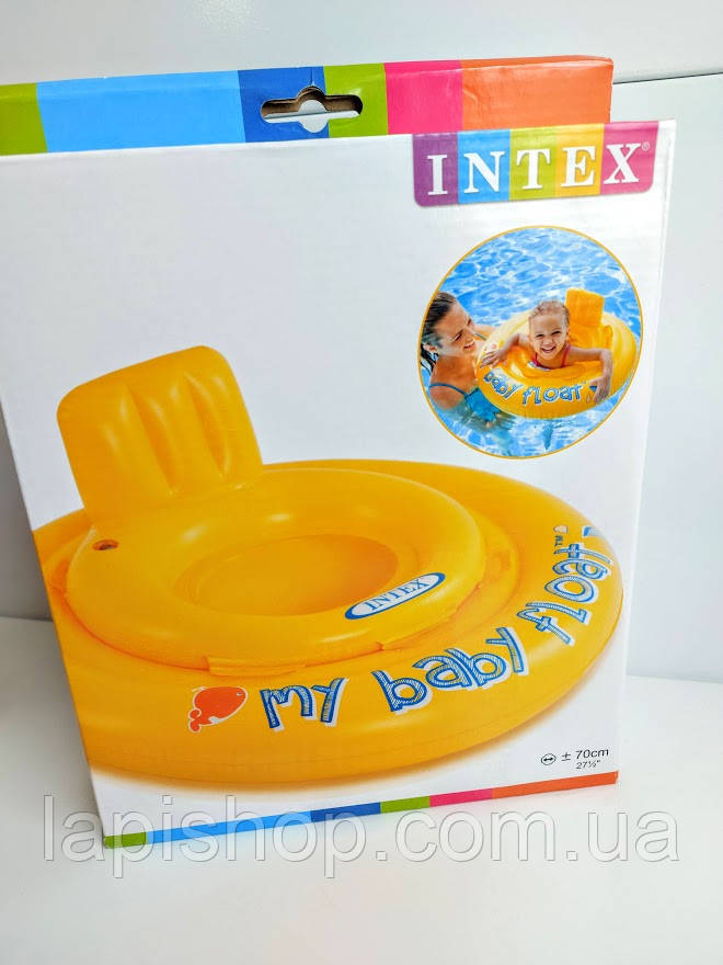 Детский надувной плотик ходунки Intex 70 см 56585