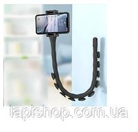 Гнучкий тримач для телефону з присосками Cute Worm Lazy Holder чорний, фото 4