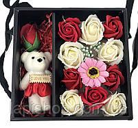 Подарочный набор I Love You с мишкой и мыла из роз XY19-79, фото 2