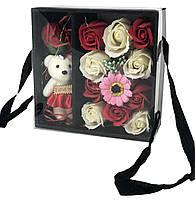 Подарочный набор I Love You с мишкой и мыла из роз XY19-79, фото 3