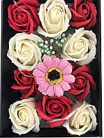 Подарочный набор I Love You с мишкой и мыла из роз XY19-79, фото 4