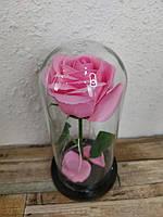 Роза в колбе с LED подсветкой большая розовая №A78, фото 7