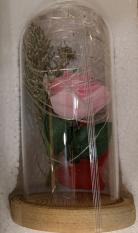Роза в колбі з LED підсвічуванням РОЖЕВА 8Х17