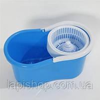 Турбо Швабра з Відром Spin Mop 360 Блакитна, фото 2