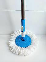 Турбо Швабра з Відром Spin Mop 360 Блакитна, фото 3
