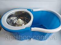 Турбо Швабра з Відром Spin Mop 360 Блакитна, фото 5