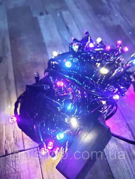 Гирлянда новогодняя 200 LED 18 метров цвет микс