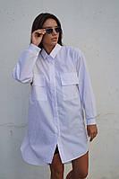 Женское белое платье-рубашка, фото 1