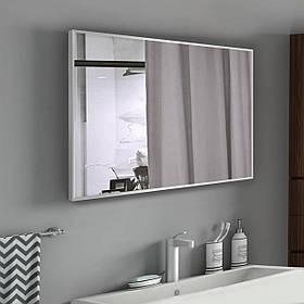 Зеркало в раме для ванной 400х600 мм серого цвета пр. Украина