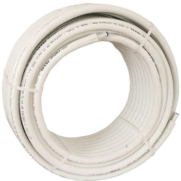 Металопластикова труба Valsir Pexal 20 x 2,5 в бухтах 50 м (в ізоляції)