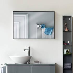 Зеркало в раме 700х500 мм черного цвета пр. Украина алюминий