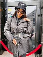 Шикарная куртка-жакет с поясом под бренд