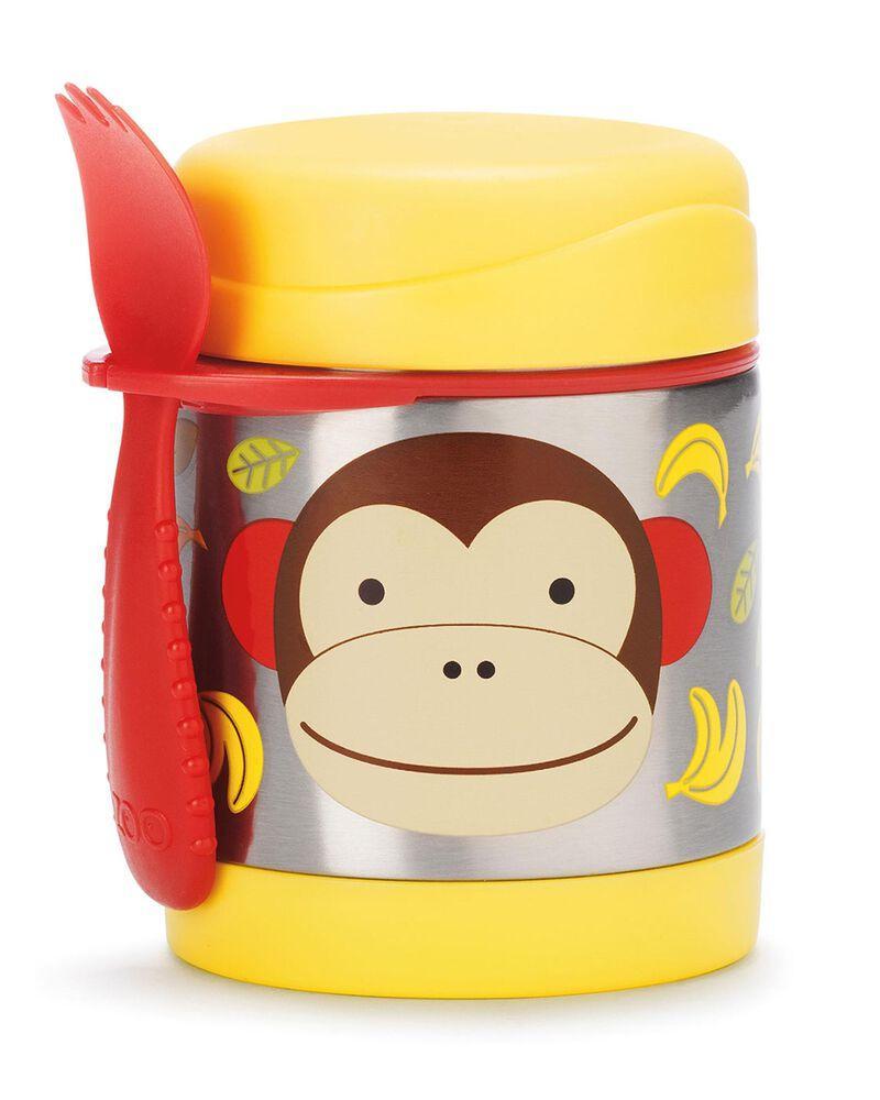 Термос для їжі з ложкою-виделкою Skip Hop, 325 мл (Zoo Insulated Little Kid Food Jar) - Monkey (Мавпа), 12м+