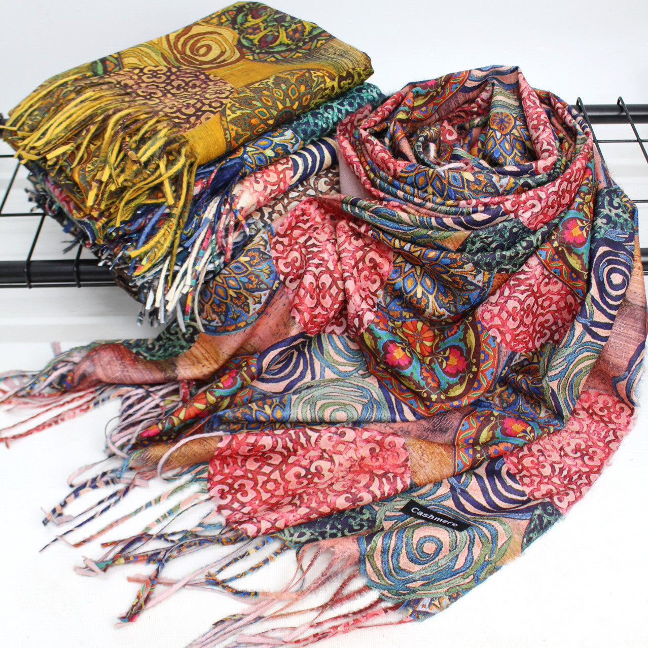 Теплый шарф двухсторонний кашемировый 134002