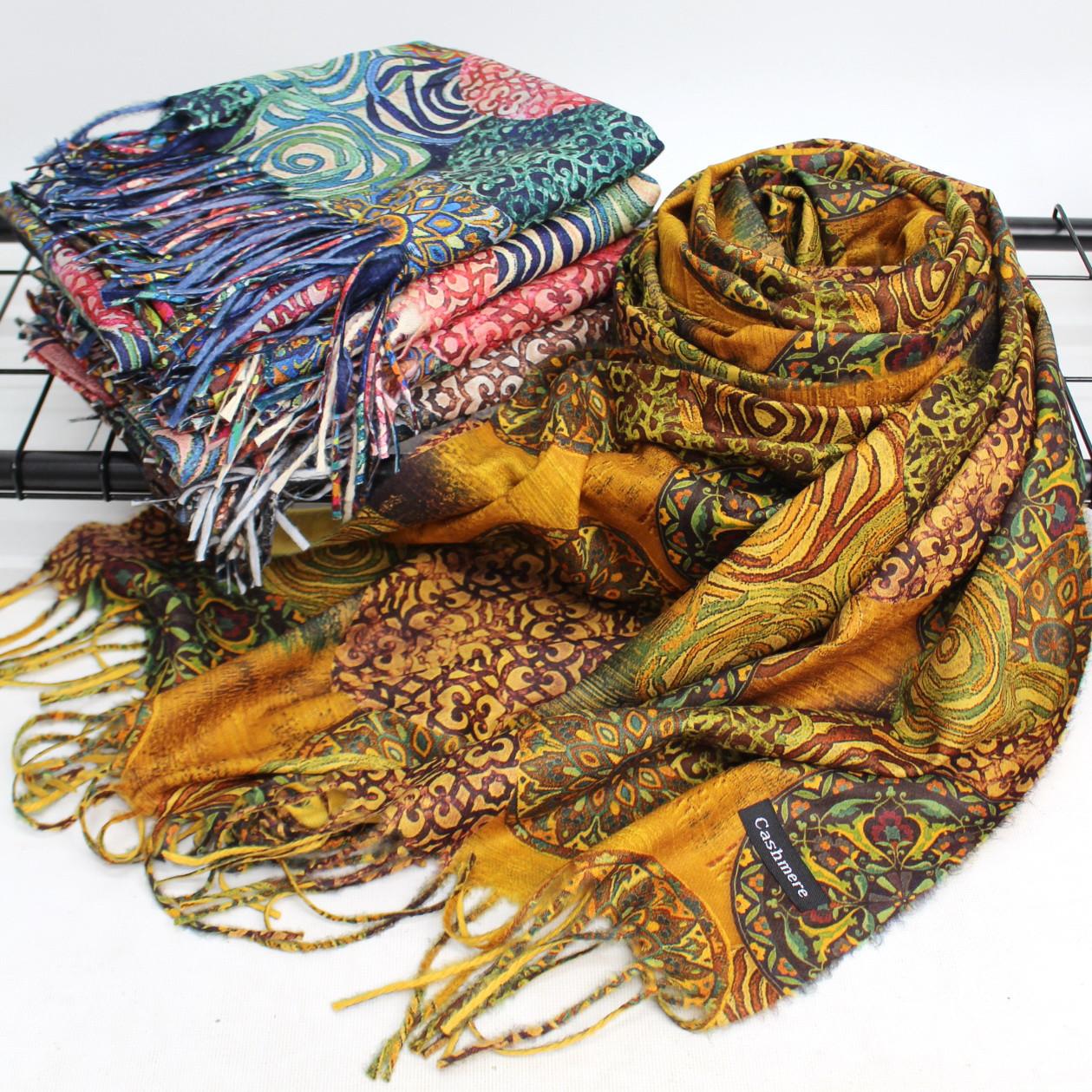 Теплий шарф двосторонній кашеміровий 134003