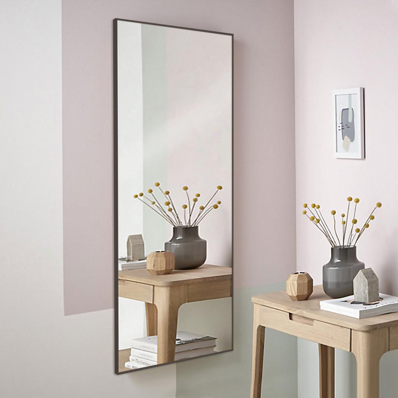 Зеркало в алюминие противоосколочная основа   1500х700 мм коричневого цвета пр. Украина