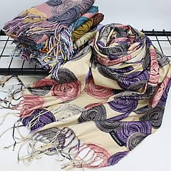 Теплий шарф двосторонній кашеміровий 133003