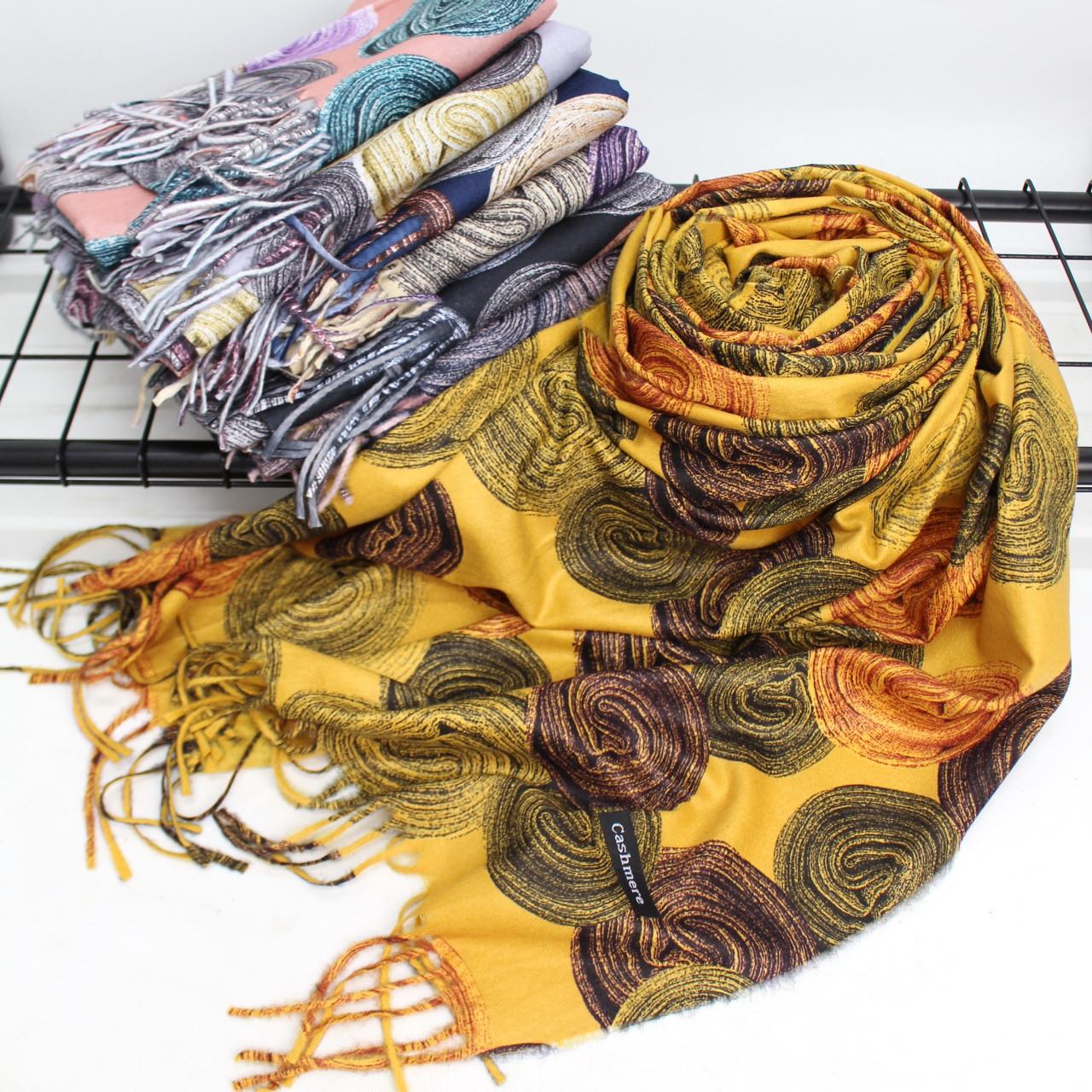 Теплий шарф двосторонній кашеміровий 133006