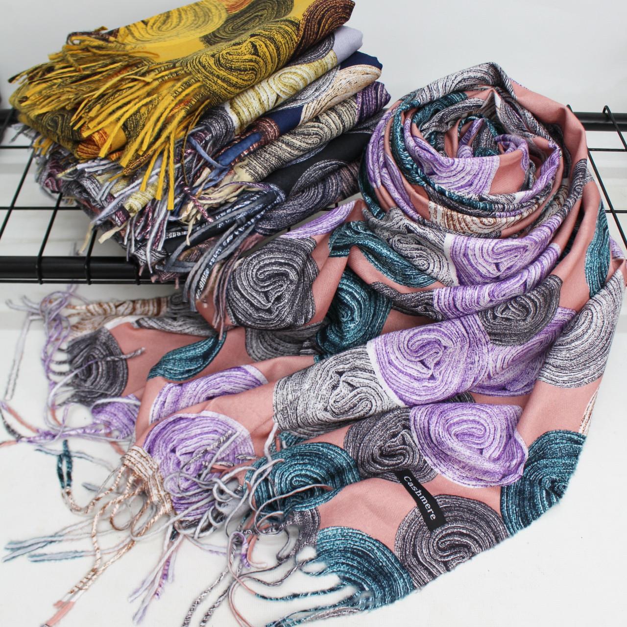 Теплый шарф двухсторонний кашемировый 133007