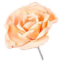 Цветок для фотозон персиковый (большой) тор