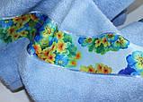 ТМ TAG Рушник махровий Весна блакитне 70х140, фото 3