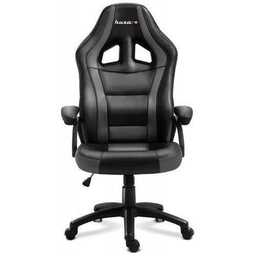 Компьютерное кресло для геймера Huzaro Force 4.2 black-grey