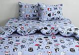 ТМ TAG Комплект постельного белья Совята (серый), фото 2