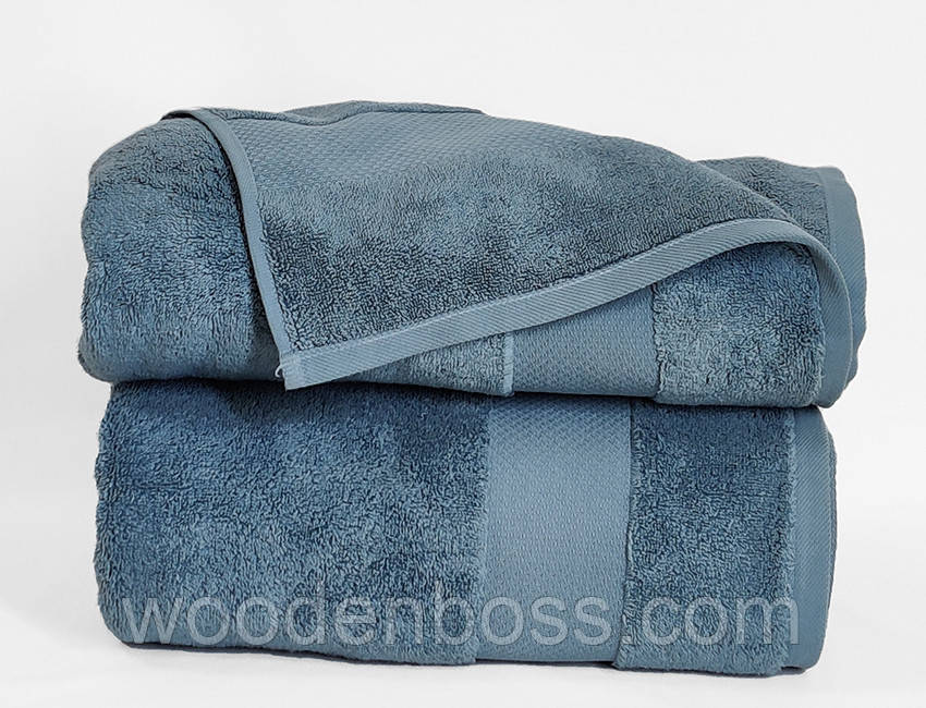 ТМ TAG Рушник 70х140 Home style колір: сіро-блакитний