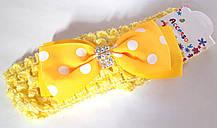 Пов'язка на голову дитяча Fashion з бантиком 4,5 см, жовта