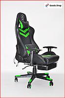 Кресло геймерское Avko Style c подставкой для ног игровое компьютерное офисное раскладное мягкое зеленое