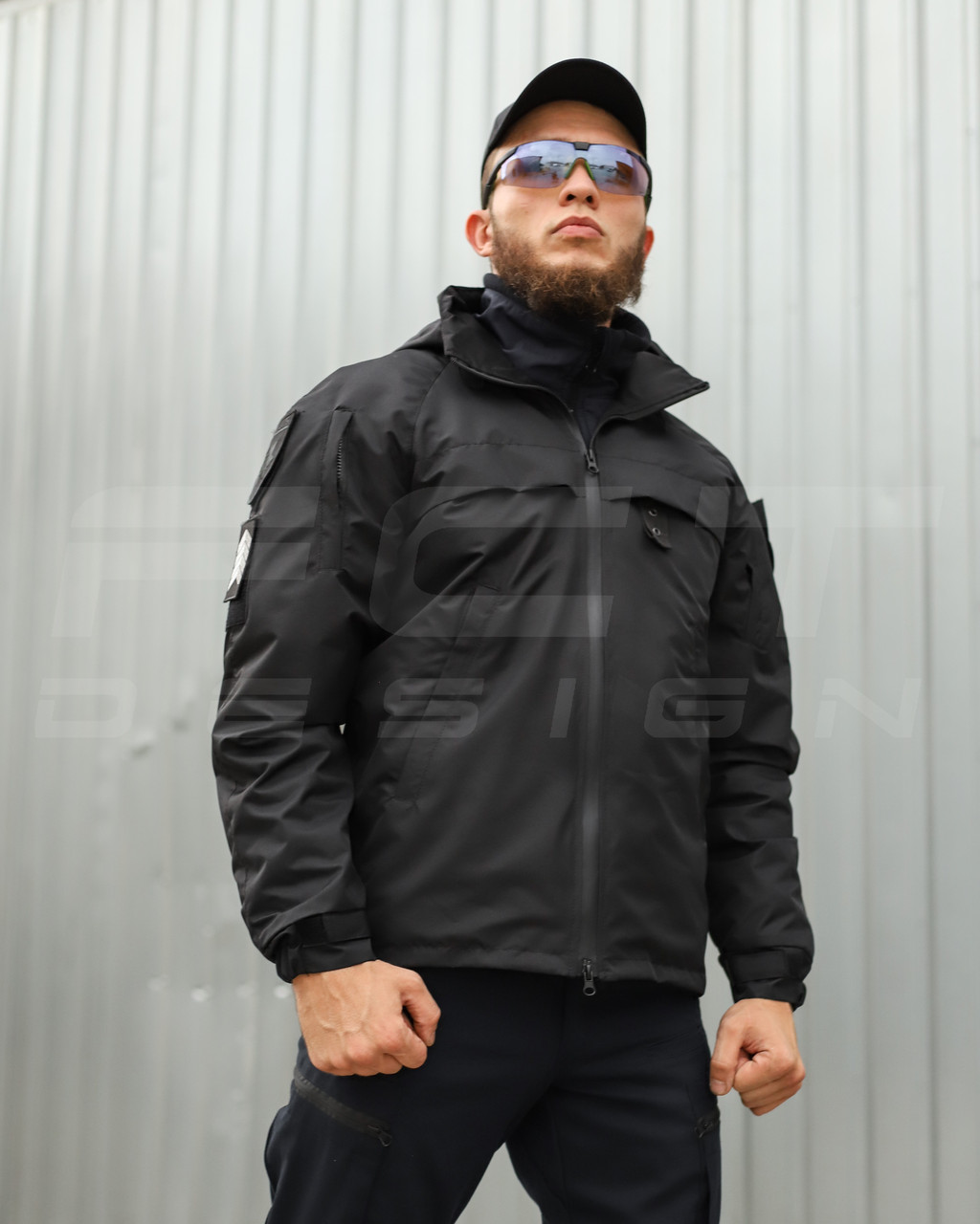 Куртка ветровка Патрол непромокаемая для полиции на сетке